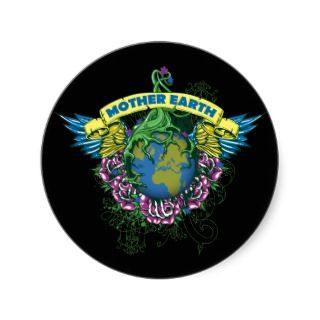 Mother Earth Round Sticker
