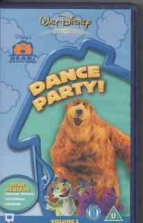 Bear in The Big Blue House Dance Party VHS PAL Video