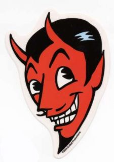 Awesome Cartoon Devil Head Hot Rod Sticker Auto Decal