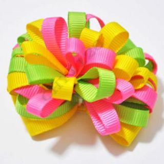 Boutique Woman Girl Accessory 2 5 Hand Made Grosgrain Ribbon Hair Bow