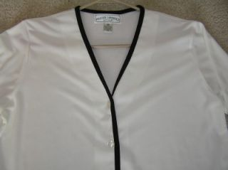 Womens Frazier Lawrence Petite White Shirt Top Size M