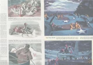 1944 Aircraft Carrier Action Packed Paintings by Lawrence Smith