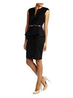 Ted Baker Jamthun zip detail dress Black
