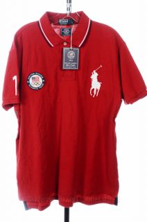 Polo Ralph Lauren XL Red SS 2012 Olympics London Flag Big Pony Shirt $