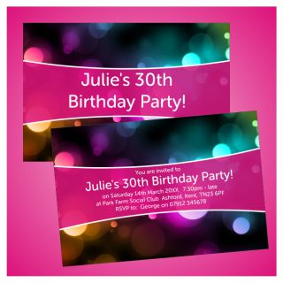 Personalised 18th 21st 30th 40th Birthday Party Invitations