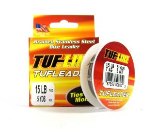 TUF Line Braided Stainless Steel Bite Leader 10lb 5yds