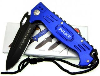 Police Law Enforcement Spring Assisted Folding Knife