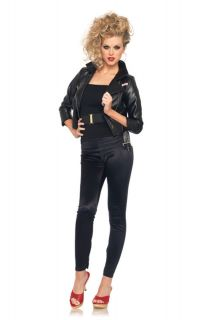 Womens T Birds Faux Leather Jacket Adult Costume Small
