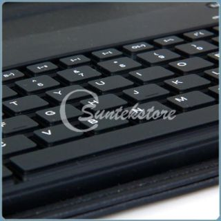 Leather Case Bluetooth Keyboard for Blackberry Playbook