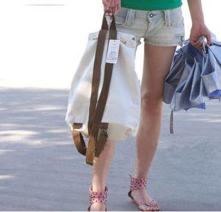 Korean Style Ladys Girls Mickey Canvas Backpack Handbag Shoulder Bag