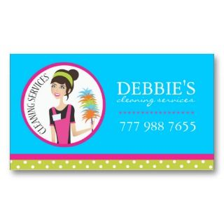 House Cleaning Business Cards business cards by colourfuldesigns