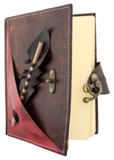 Section on A Large Leather Bound Journal Notebook Diary LO145