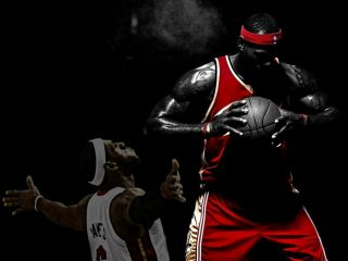 SD9038 Lebron James Miami Heat NBA 24x18 Print Poster