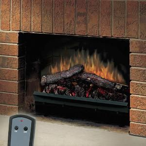 New 23 Deluxe Electric Fireplace Insert Logs Heater