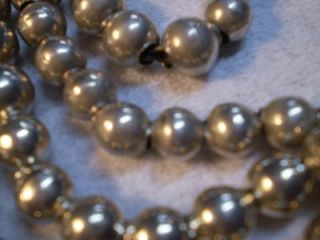 Atq Hand Made SND Sterling Silver Grad Bead Necklaces Mex Native Am