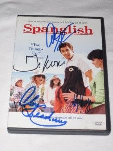 DVD Signed Autographed Adam Sandler Tea Leoni Paz Vega Leachman