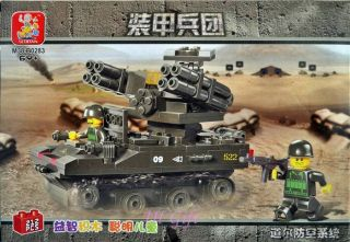 Army Doyle Air Defense Tank Adats with Minifigure Military Building