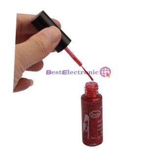 Pro Red Glitter Nail Art Striping Brush Polish Varnish