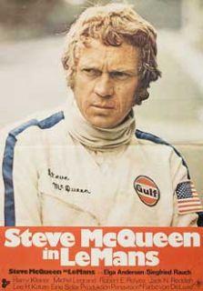 1971 Original German Movie Poster Lee H Katzin Steve McQueen