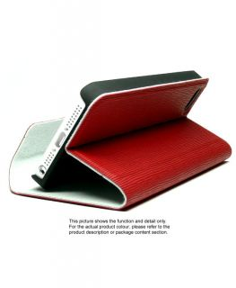 Vertical Stripes Leather Flip Slim Fold Stand Skin Cover Case for