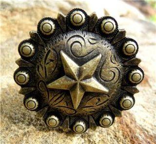 Western Decor Drawer Pulls Star Cabinet Knobs 6 Pcs
