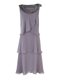 Jacques Vert Layered chiffon dress Grey