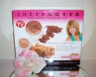 Sheer Cover 7pc Set Kit Foundation Golden Almond Mocha