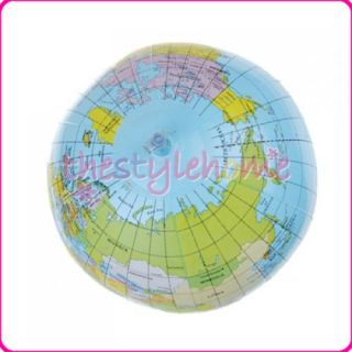 inch Inflatable World Map Earth Globe Educational Learning Ball