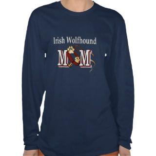 irish wolfhound mom gifts tee shirt