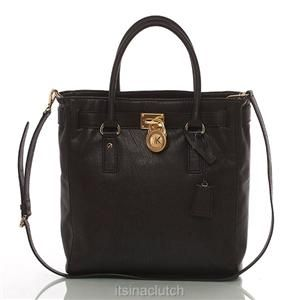 Auth Michael Kors Black Hamilton Multi Function Tote Bag