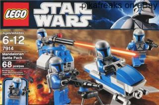 7914 Lego Star Wars The Clone Wars Mandalorian Battle Pack New Play