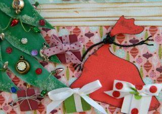 Momz Karen Christmas Santa Children Premade Paper Piecing Scrapbook