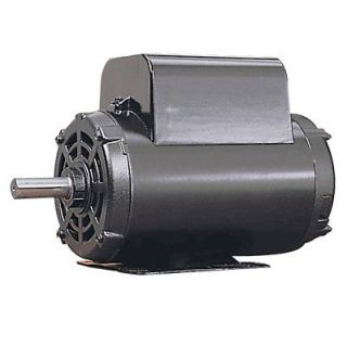 Leeson Reversible Electric Motor w Manual Overload Protection 1 1 2 HP