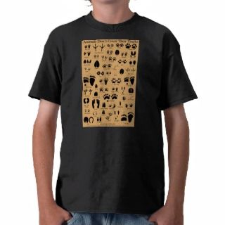 Animal Tracks Pawprints Poster T shirts