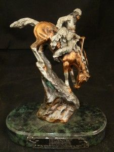 Frederic Remington Bronze Statue Mountain Man 1988