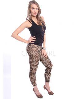 Animal Leopard Print Full Length Leggings Size s M L XL 8 18