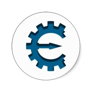 Cheat Engine Logo Round Stickers