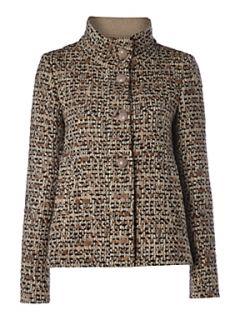 MaxMara Studio Papilla tweed wool jacket Grey