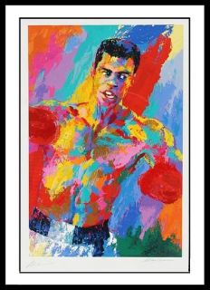 Leroy Neiman Muhammad Ali Signed 28x42 Serigraph Boxing Autographed Le