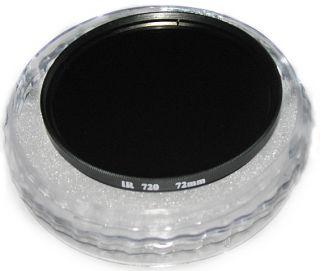 New 72mm IR Infrared Filter Lens R72 720nm Infra Red 72 Digital Camera
