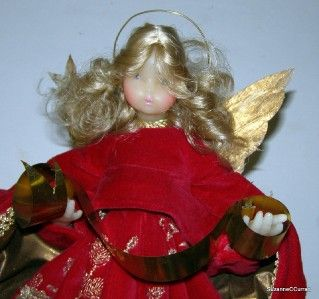 Vintage Pauline Leidel Spreen Christmas Wax Angel 13 Tree Topper