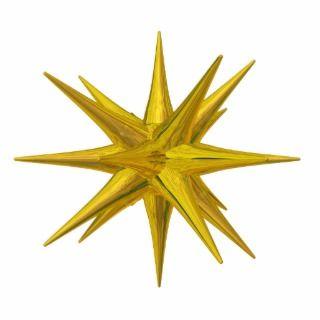 Yellow star photo cutout