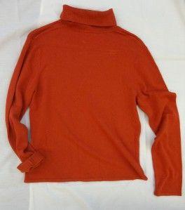 Leonards Burnt Orange Long Sleeve Turtleneck Sweater, Juniors 2XL or