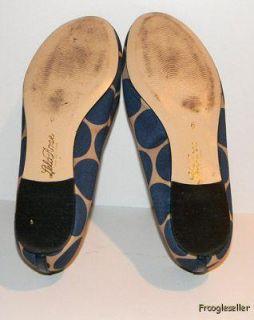 Lela Rose Womens Flats Shoes 6 M Blue Brown Fabric