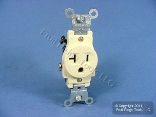 Leviton Almond Commercial Outlet Receptacle 20 Amp