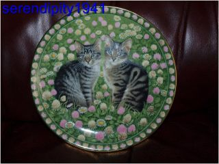Meet My Kittens Lesley Anne Ivory Collector Plate May Muppet Emu 1990