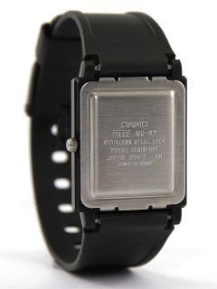 MQ27 7EDF Classic Blue Dial Black Resin Mens Analog Casual Dress Watch