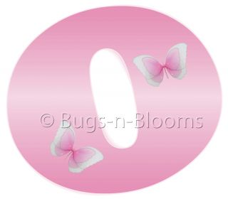 Pink Letters Mural Butterfly Alphabet Room Wall Decor Vinyl Sticker