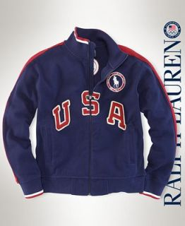 Ralph Lauren Kids Jacket, Little Boys USA Track Jacket
