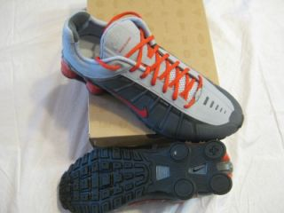NIKE SHOX OLEVEN MENS RUNNING SHOES SZ 1 1 DARK GREY/SPORT RED GRY